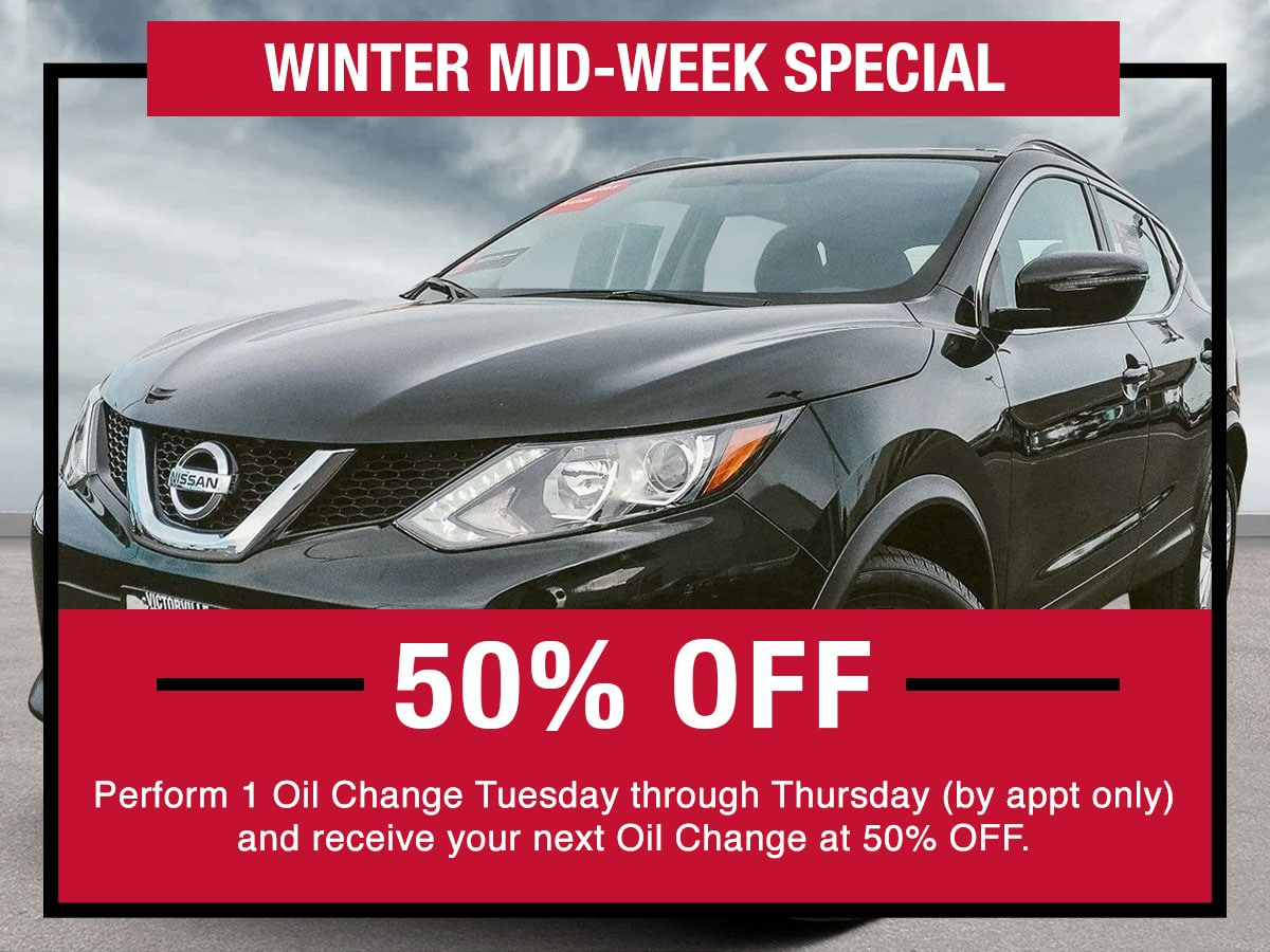 Nissan Winter Mid-Week Special Coupon