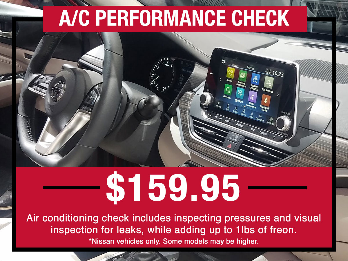 Nissan A/C Performance Check Service Special Coupon