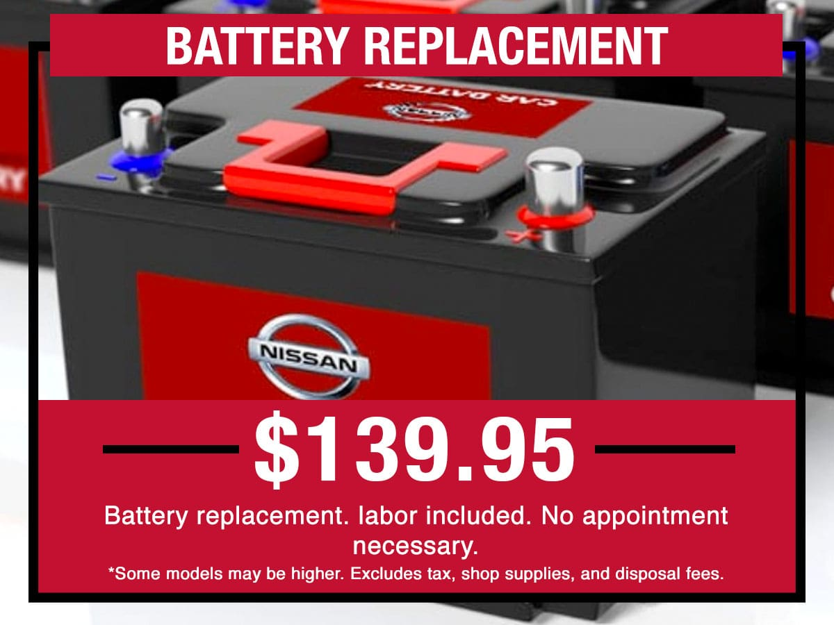 Nissan Battery Replacement & Installation Special
