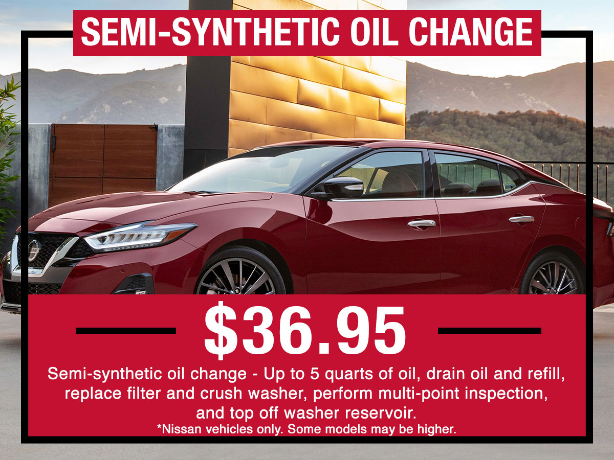 Nissan Semi-Synthetic Oil Change Special Coupon