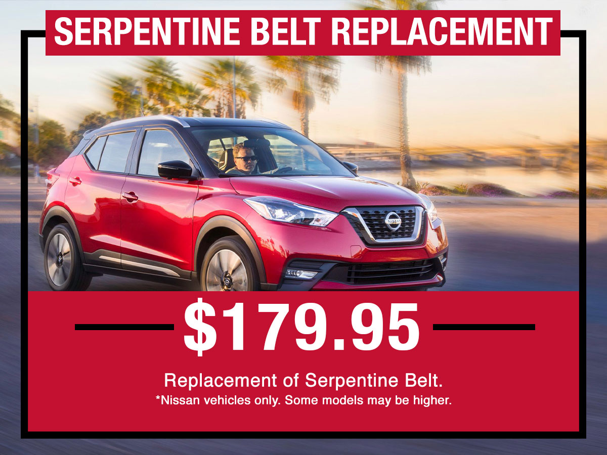 Nissan Serpentine Belt Replacement Service Special Coupon