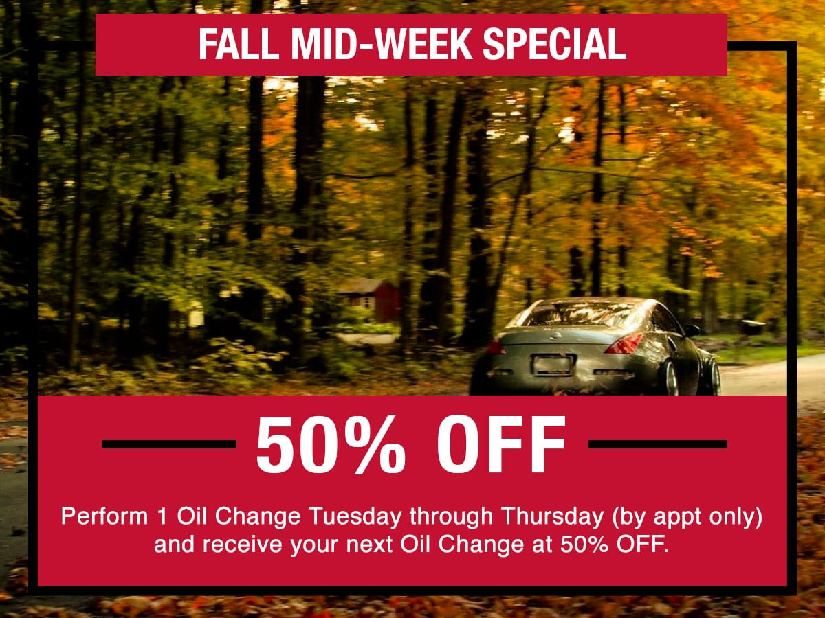 Fall Mid-Week Special Coupon