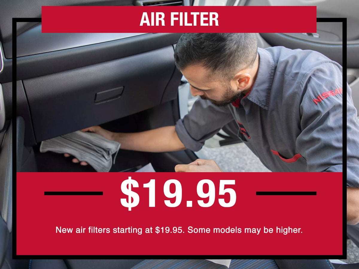 Nissan Air Filter Parts Special Coupon