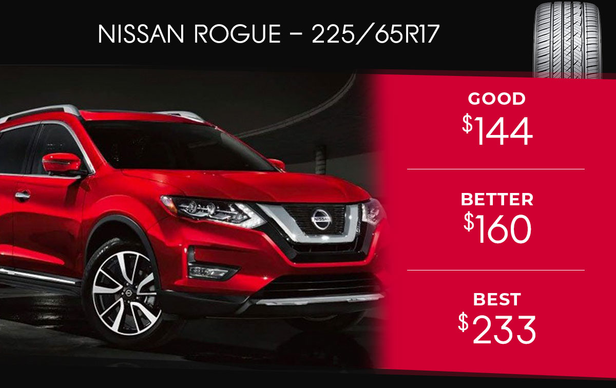 Nissan Rogue Tire Special Coupon