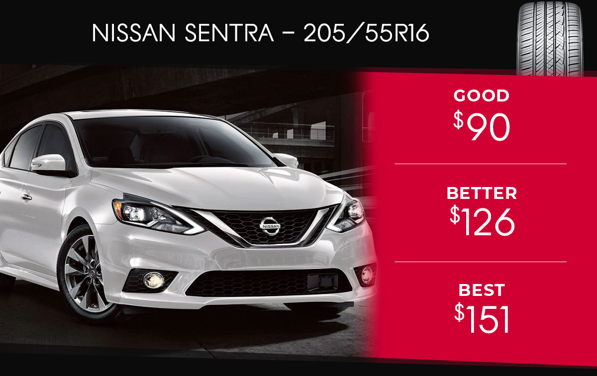 Nissan Sentra Tire Special Coupon