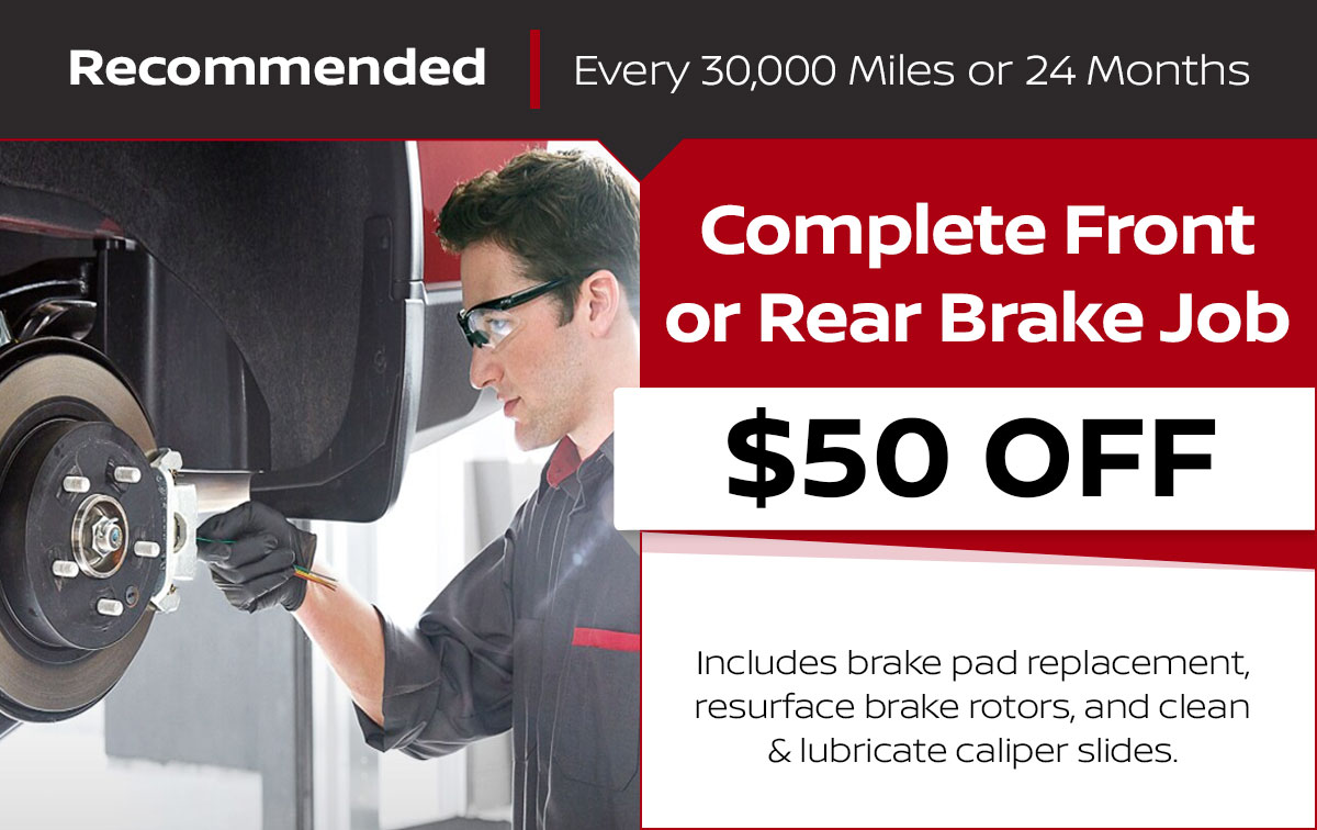 Complete Front or Rear Brake Job Service Special Coupon