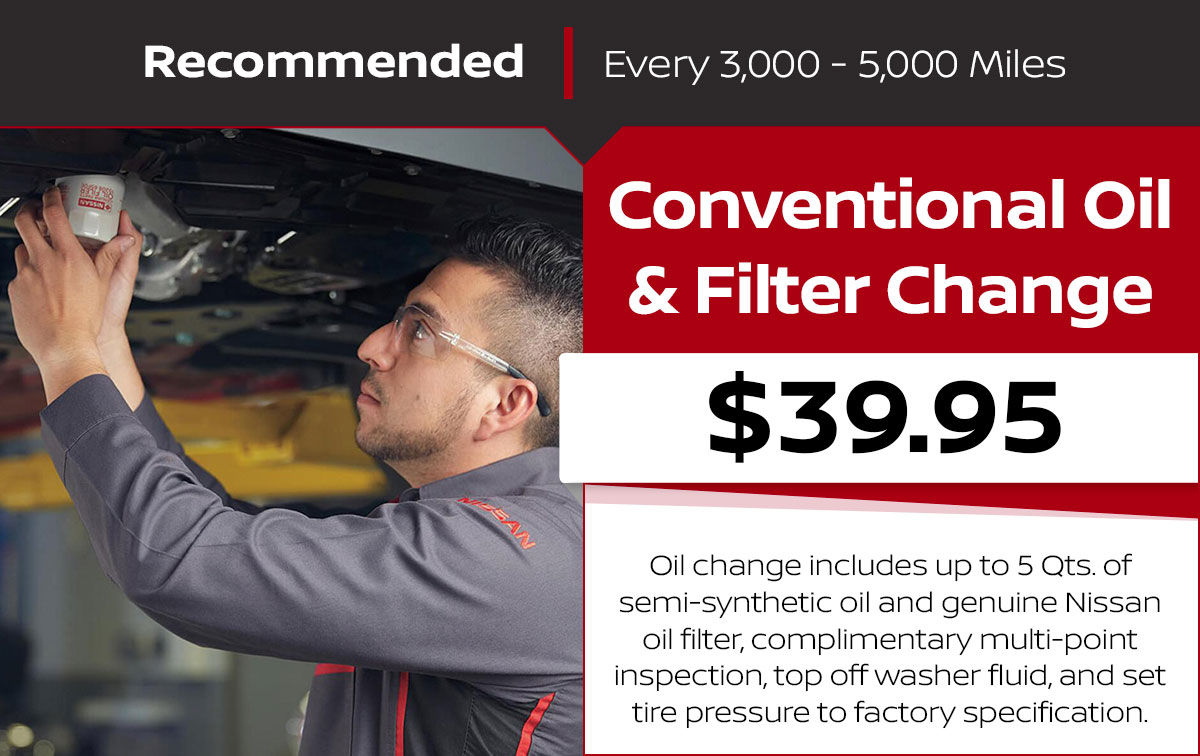 Conventional Oil & Filter Change Service Special Coupon