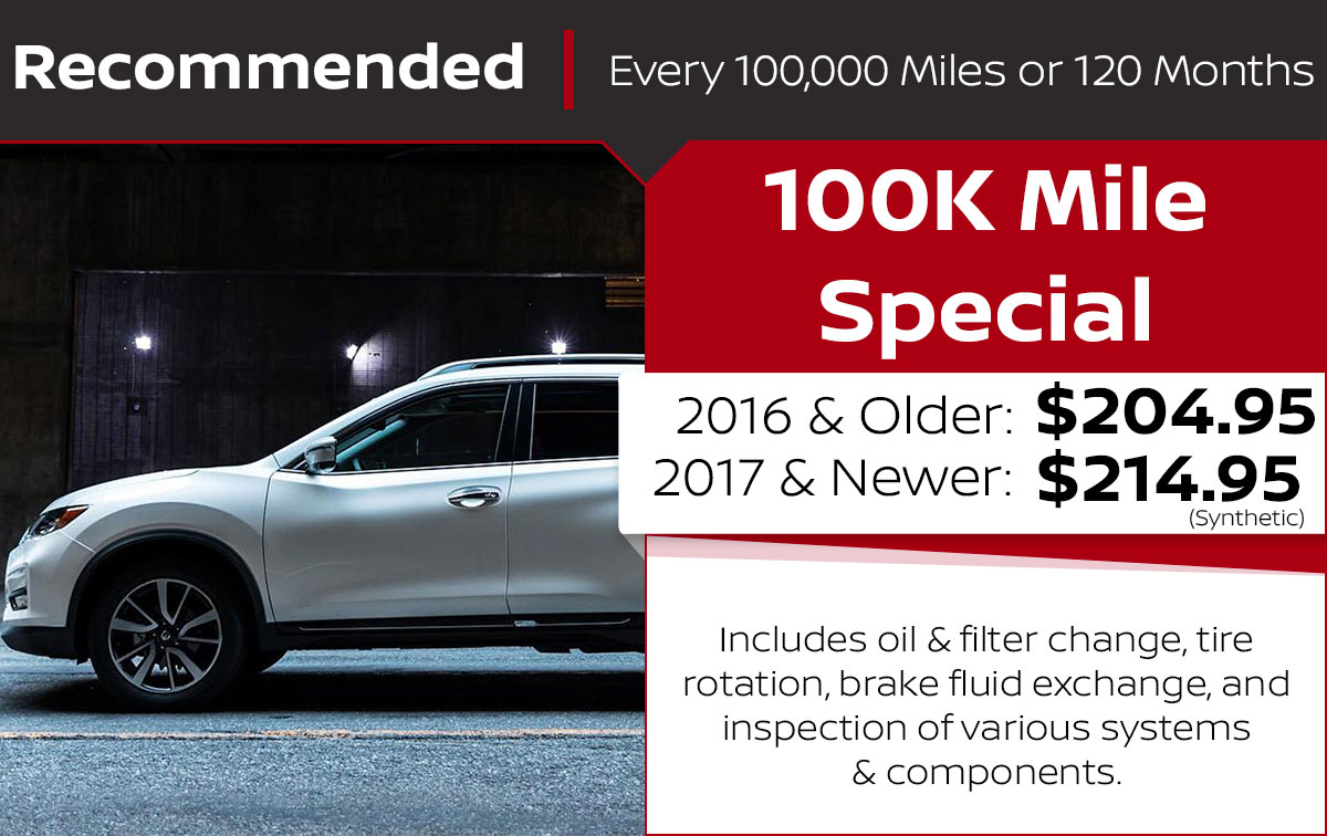 100K Mile Service Special Coupon