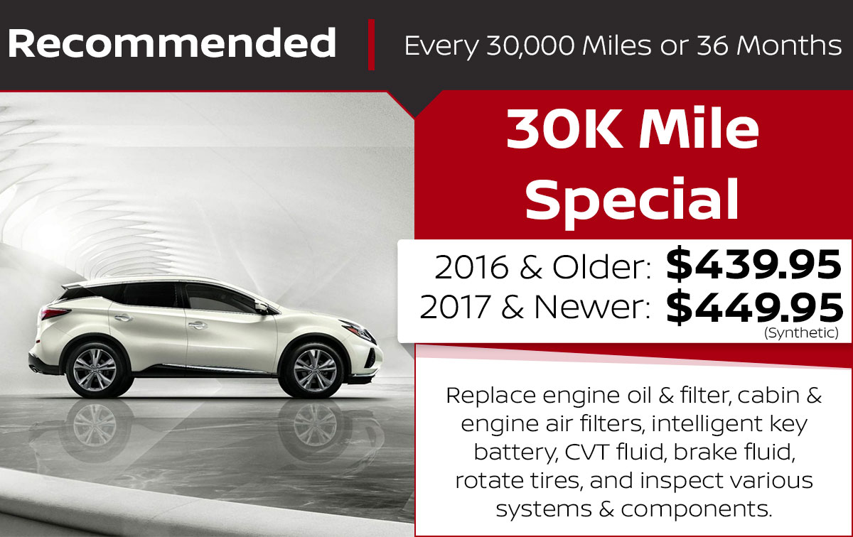 30K Mile Service Special Coupon