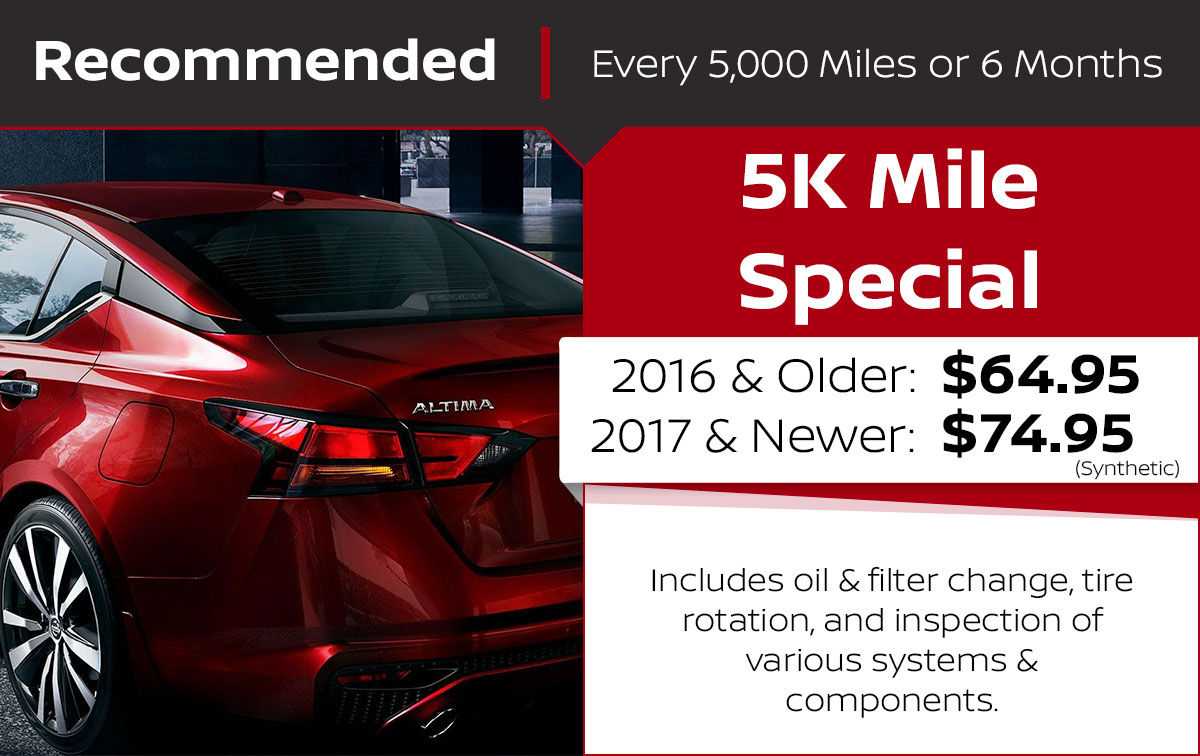 5K Mile Service Special Coupon