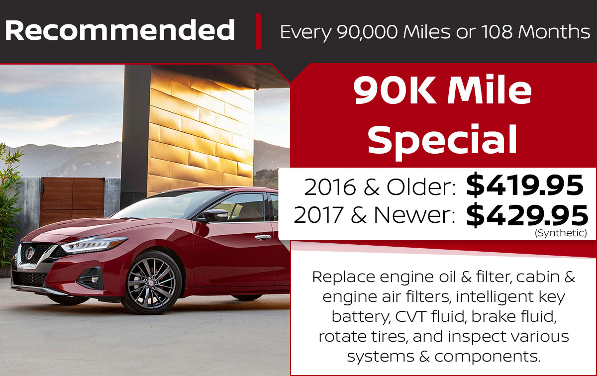 90K Mile Service Special Coupon