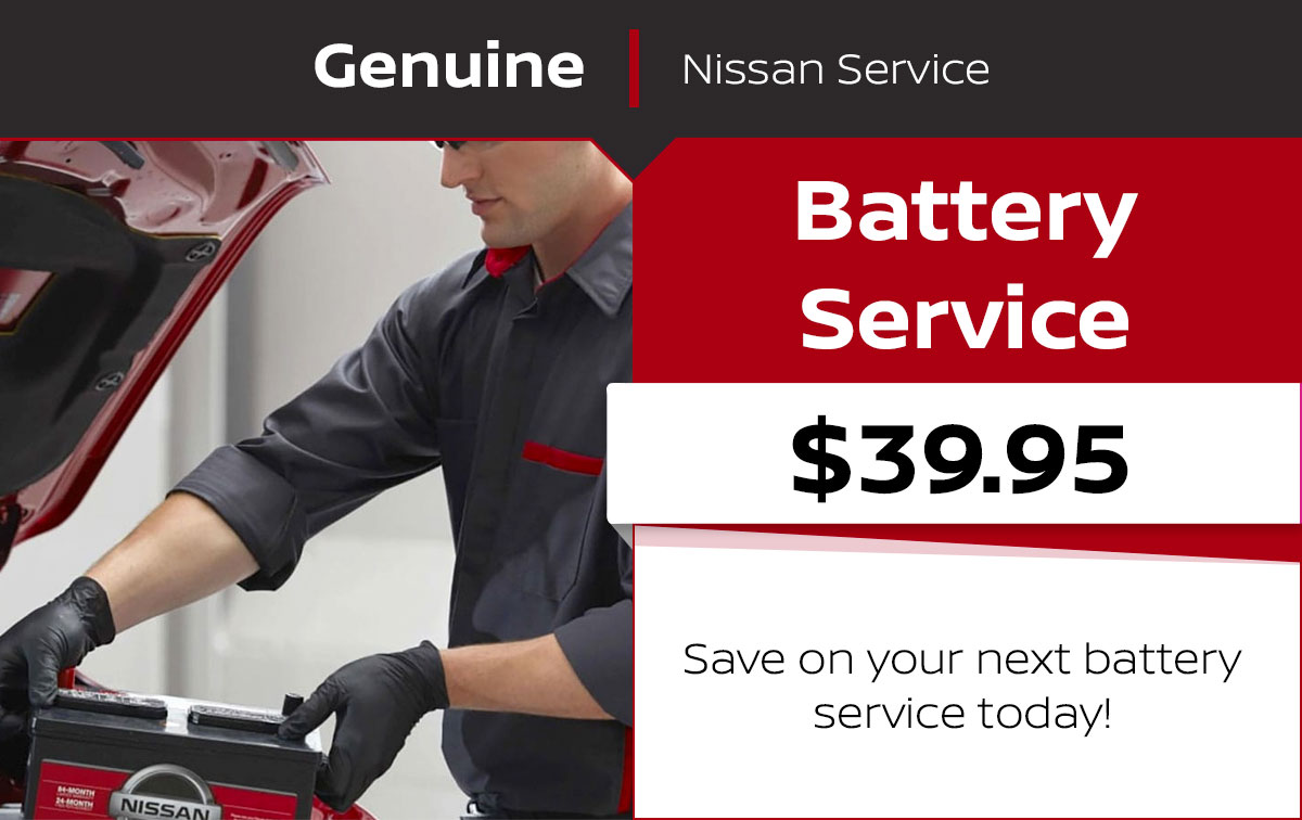 Nissan Battery Service Special Coupon
