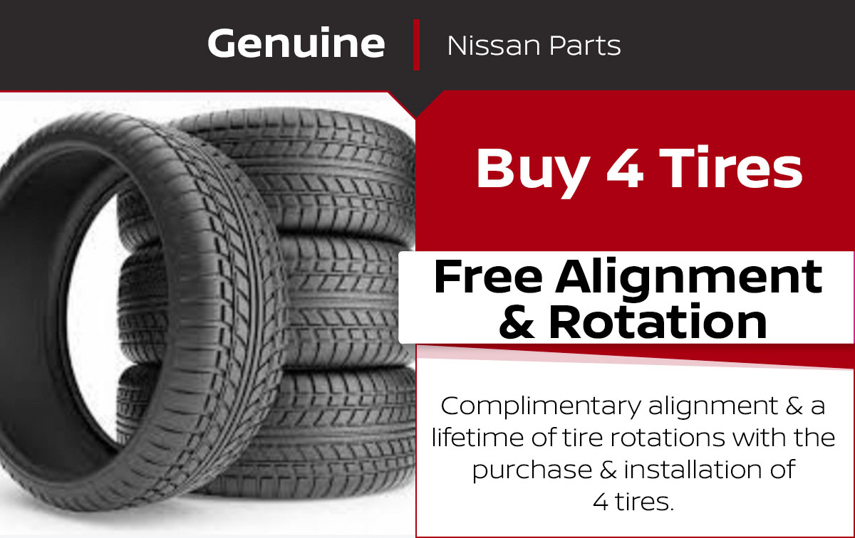 Nissan Tire Rotation & Alignment Service Special Coupon