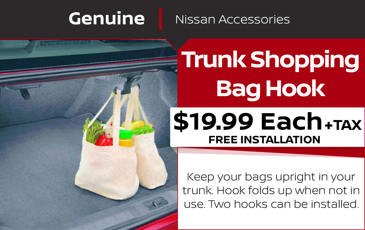 Nissan Trunk Shopping Bag Hook Special Coupon