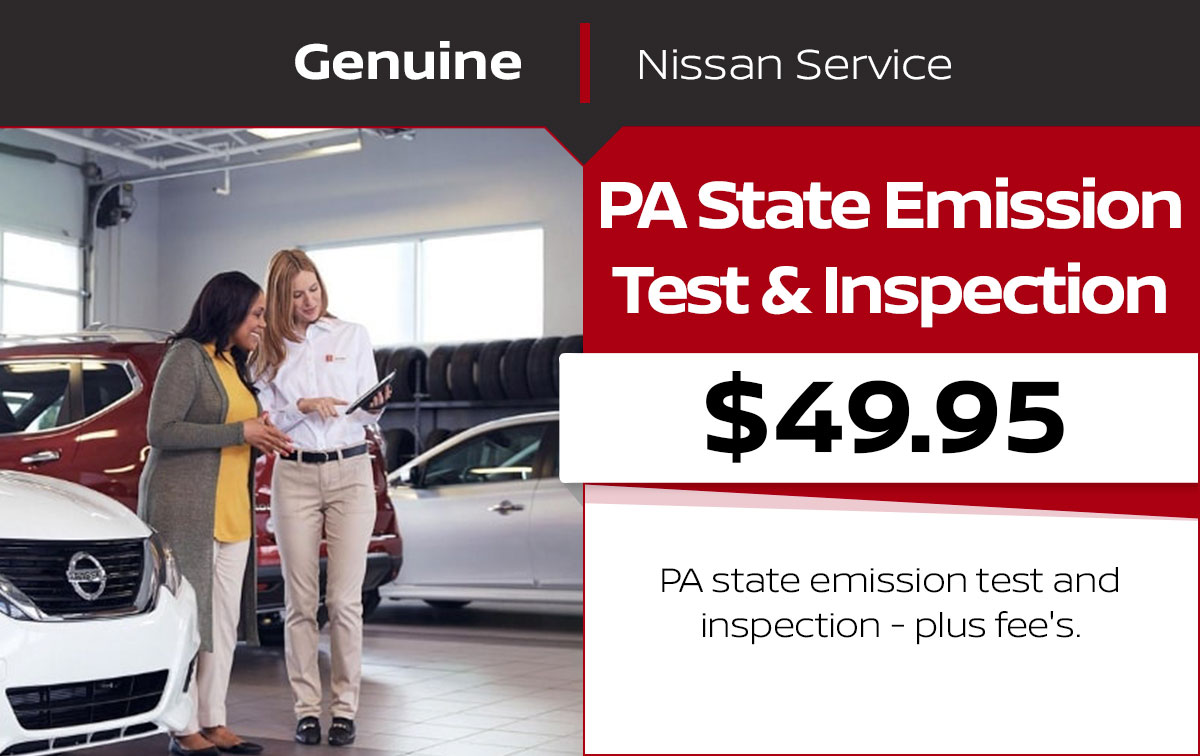 PA State Emission Test & Inspection Service Special Coupon