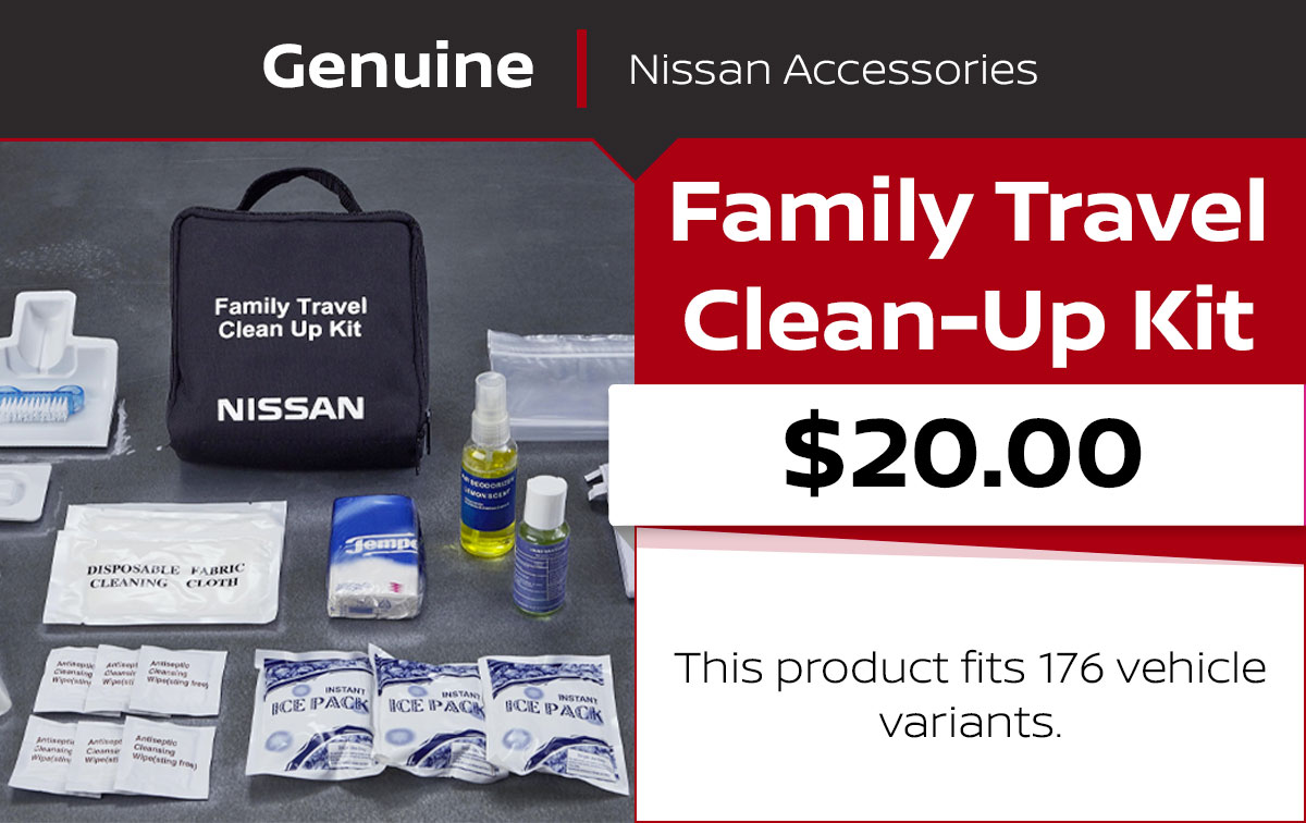 Nissan Family Travel Clean-Up Kit Special Coupon