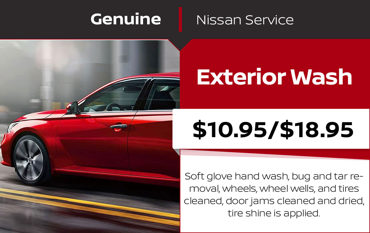 Exterior Wash Service Special Coupon