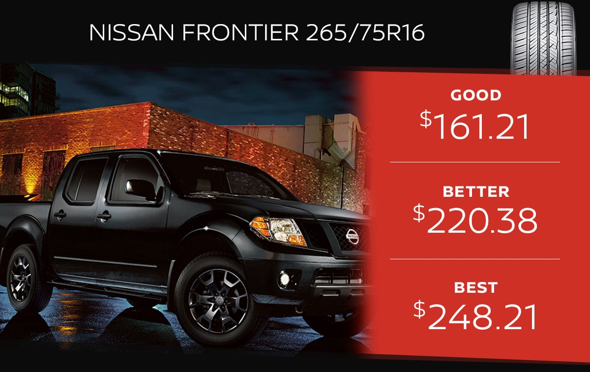 Nissan Frontier Tire Special