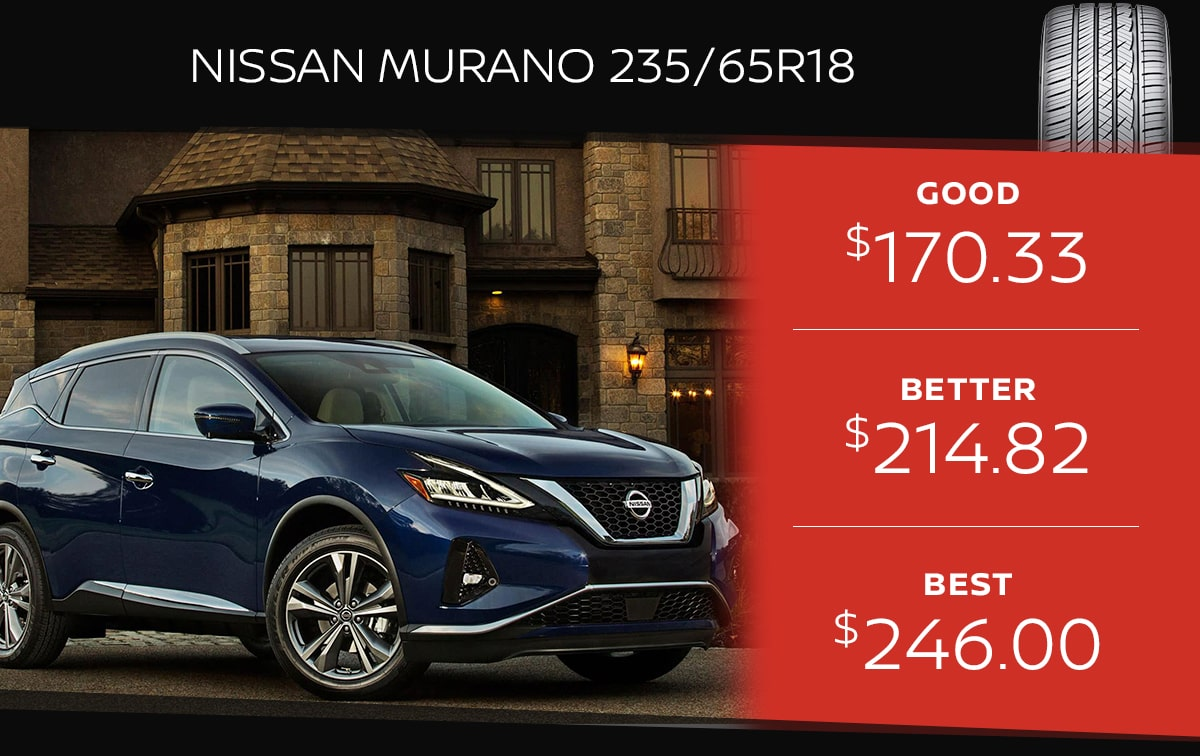 Nissan Murano Tire Special