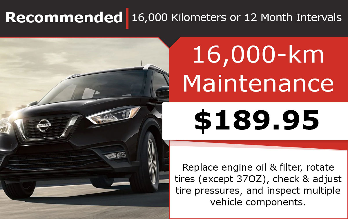 Nissan 16,000-Kilometer Maintenance Special Coupon