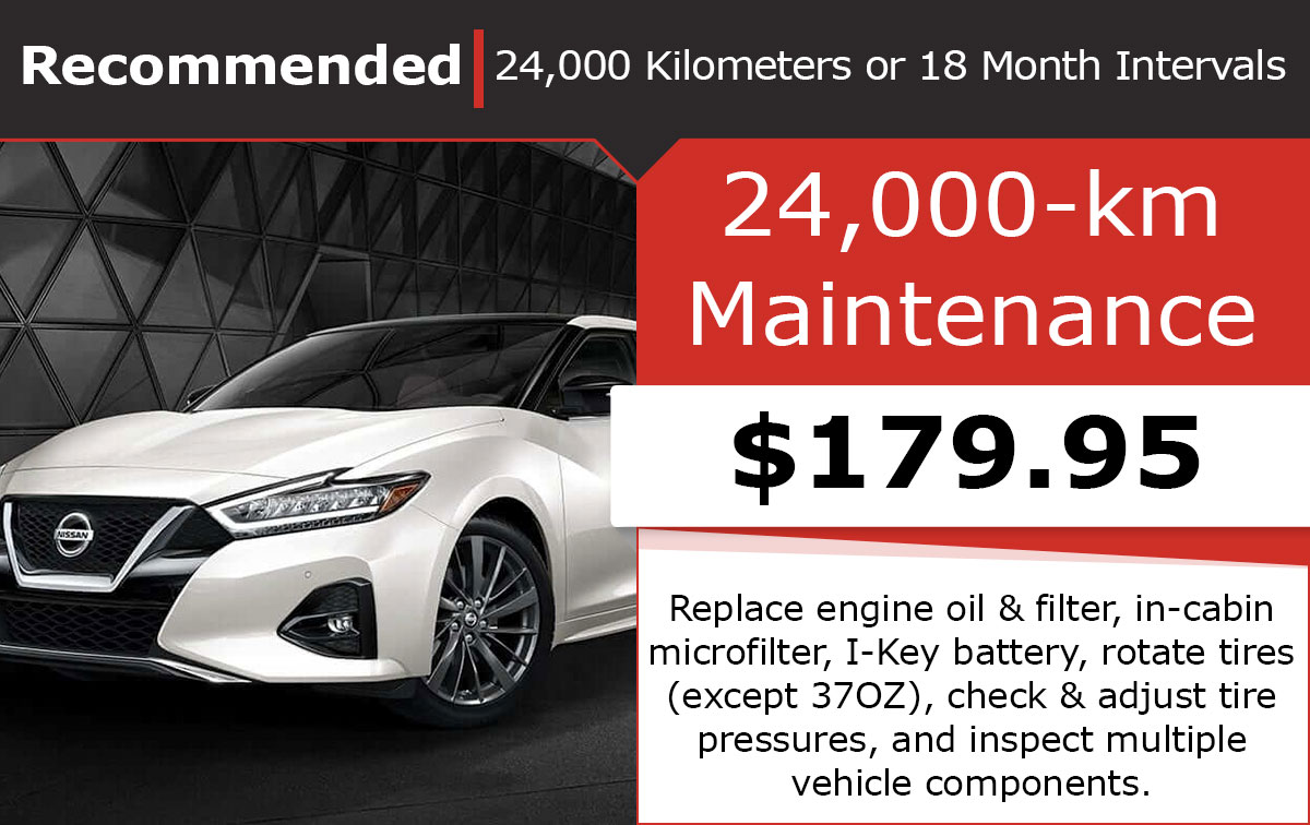 Nissan 24,000-km Maintenance Special Coupon