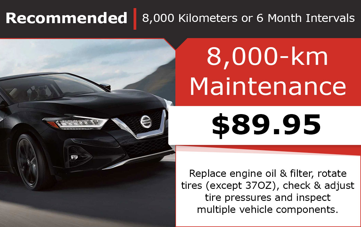 Nissan 8,000-km Maintenance Special Coupon