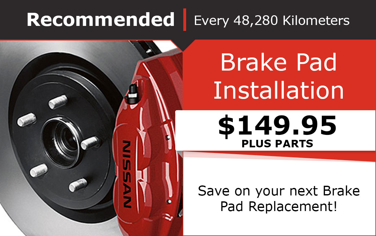 Nissan Brake Pad Installation Special Coupon