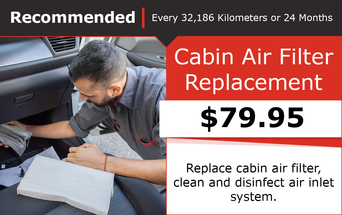 Nissan Cabin Air Filter Service Special Coupon