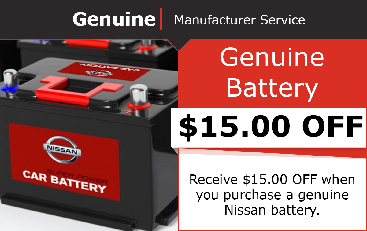 Nissan Genuine Battery Special Coupon