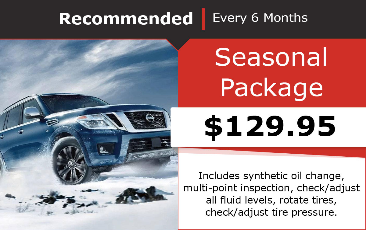 Nissan Seasonal Package Special Coupon