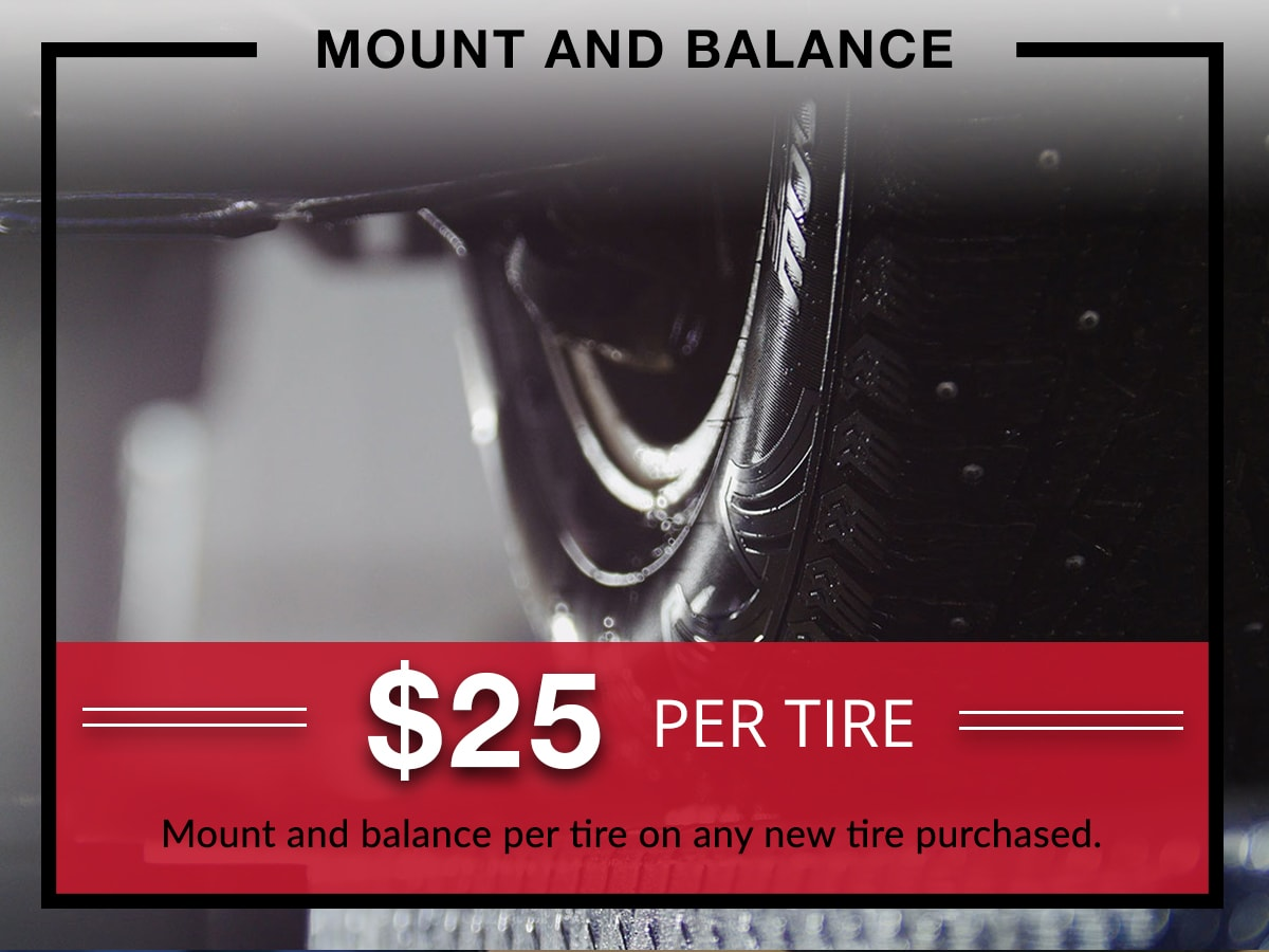 Mount and Balance Service Special Coupon