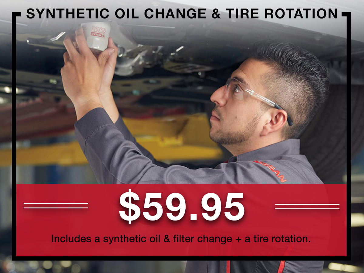 Nissan Synthetic Oil Change Special Coupon