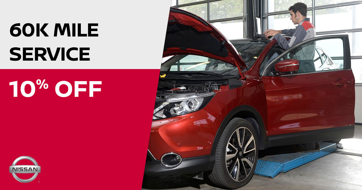 Nissan 60K Mile Service Special Coupon