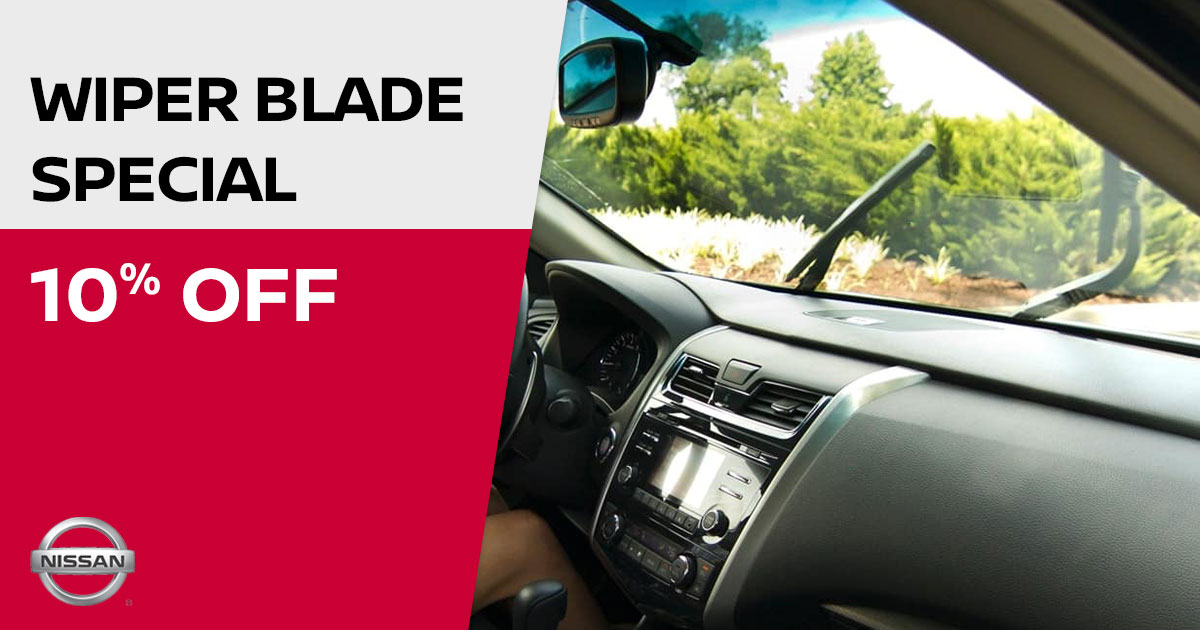 Nissan Wiper Blade Service Special Coupon