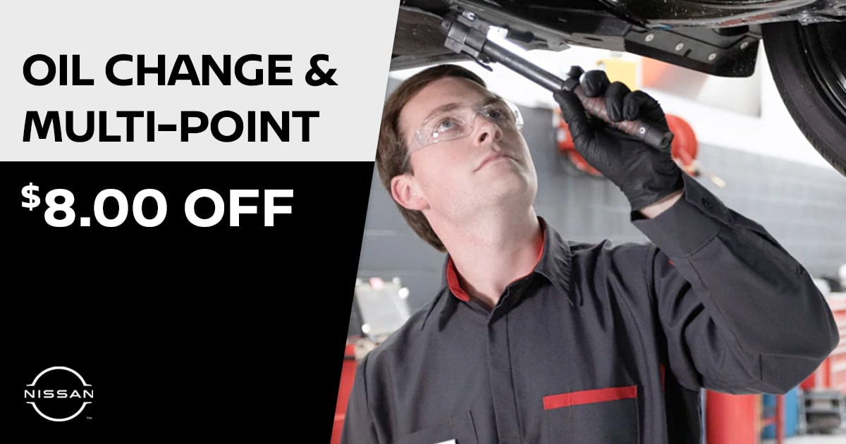 Nissan Oil Change & Multi-Point Inspection Service Special Coupon