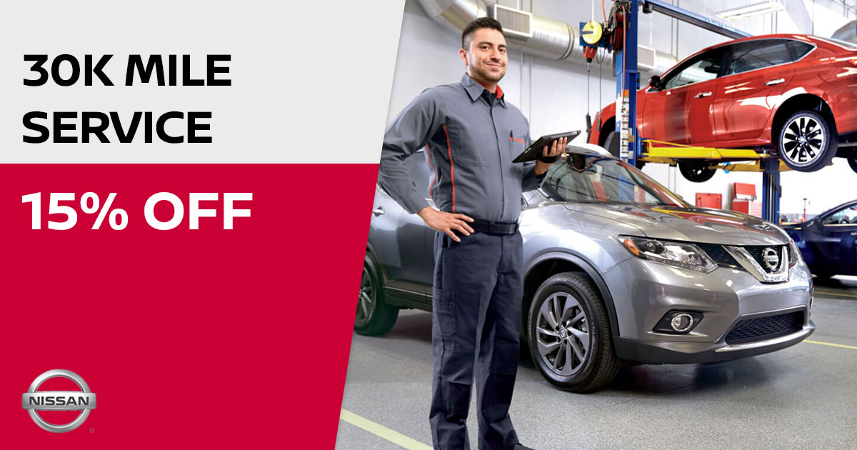 Nissan 30K Mile Service Special Coupon