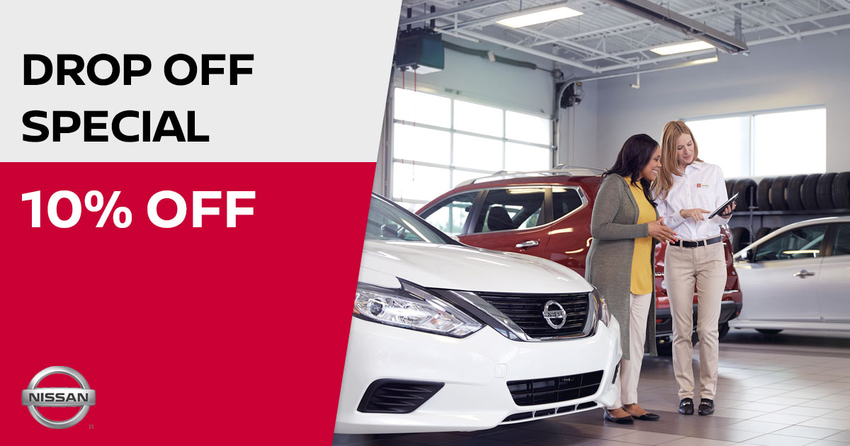 Nissan Drop OFF Service Special Coupon