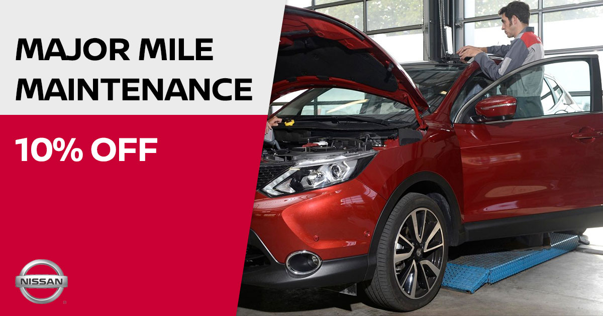 Nissan Major Mile Maintenance Special Coupon