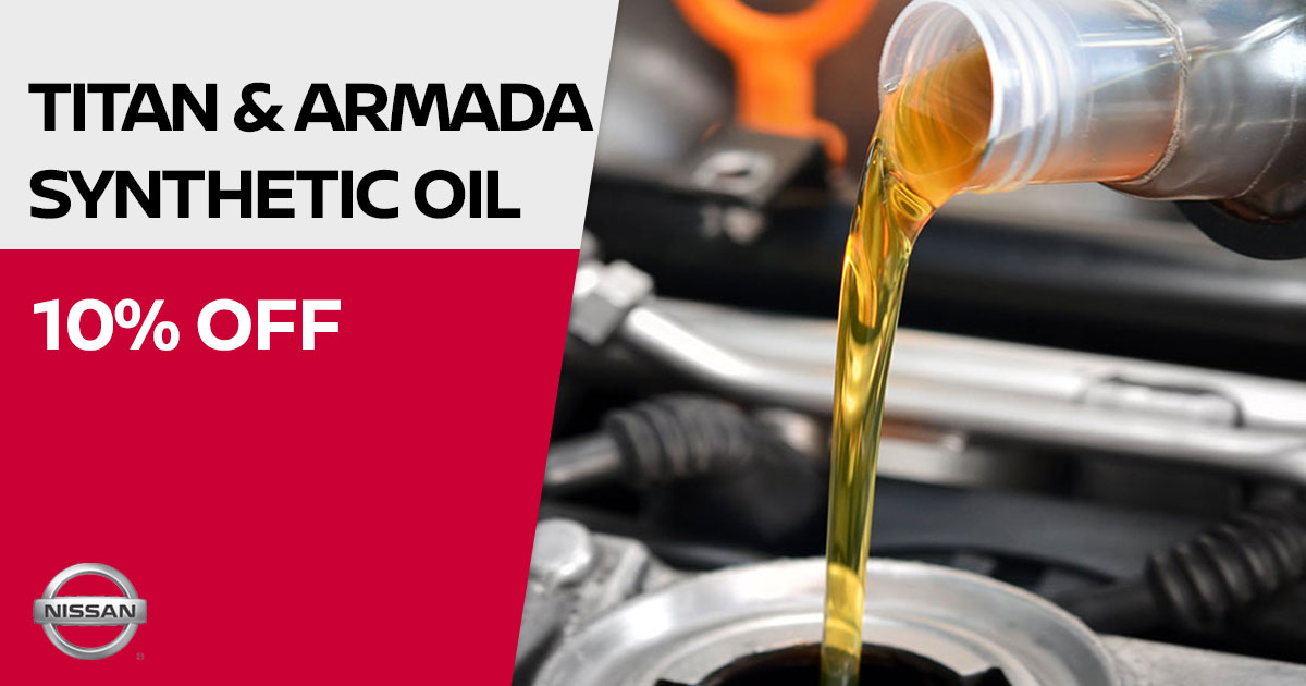 Nissan Titan & armada synthetic oil change Special Coupon