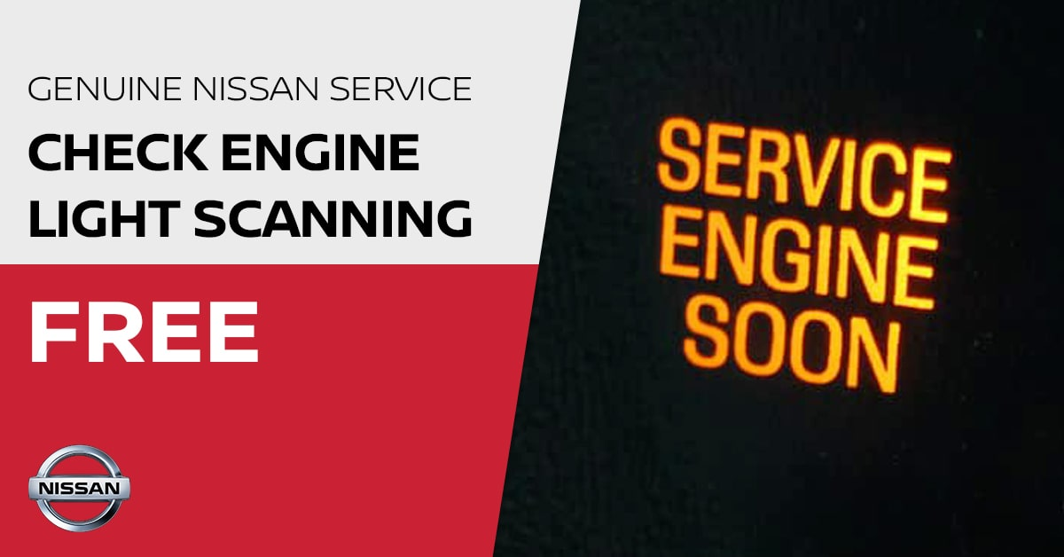 Nissan Check Engine Light Scanning Service Special Coupon