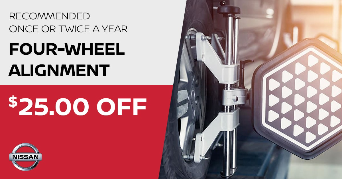 Nissan Four-Wheel Alignment Service Special Coupon