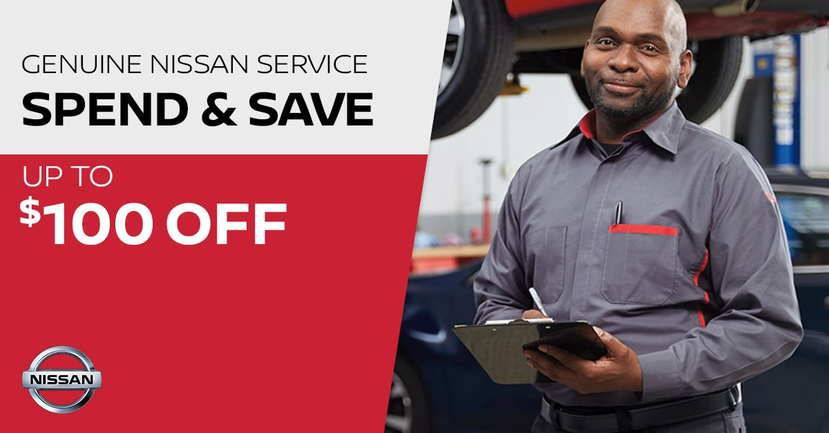 Nissan Spend & Save Service Special Coupon