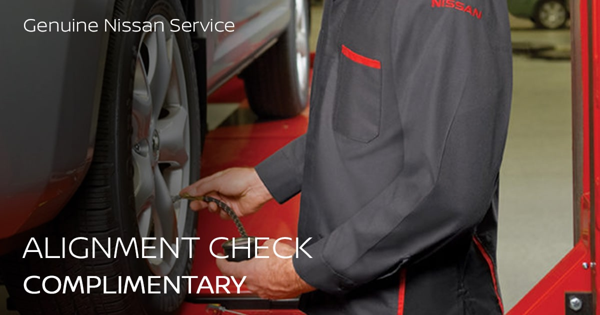 Nissan Alignment Check Service Special Coupon