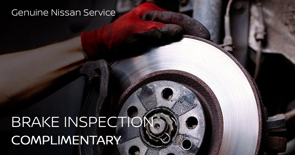 Nissan Brake Inspection Service Special Coupon