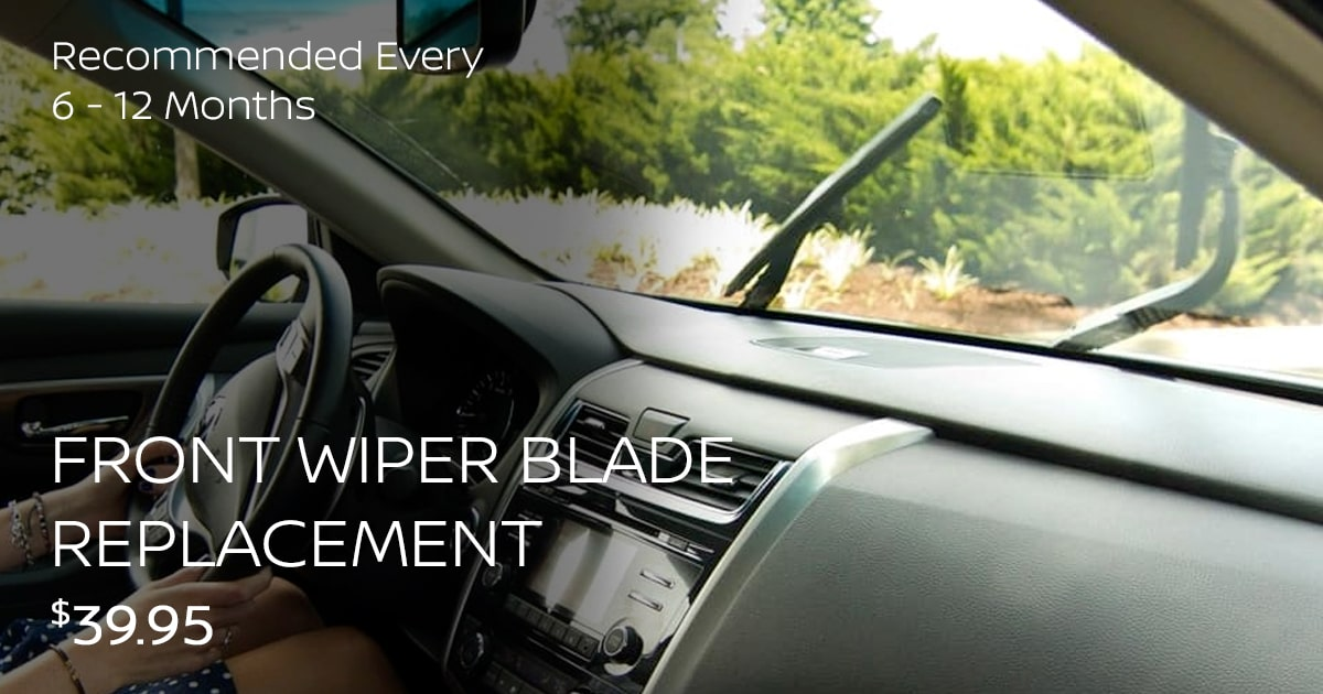 Nissan Front Wiper Blade Replacement Service Special Coupon
