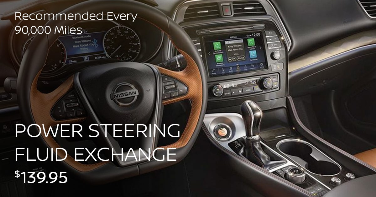 Nissan Power Steering Fluid Exchange Service Special Coupon