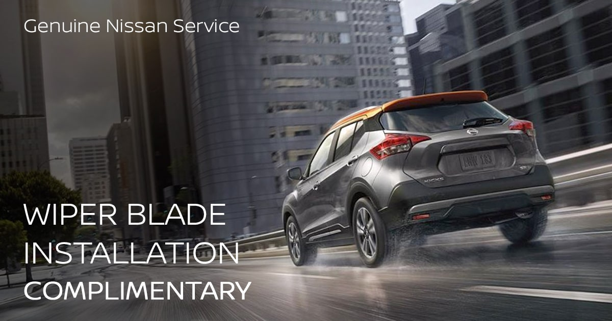 Nissan Wiper Blade Installation Service Special Coupon