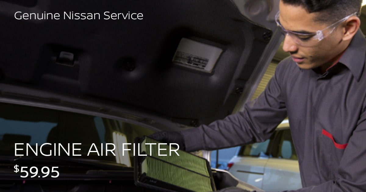 Nissan Engine Air Filter Service Special Coupon