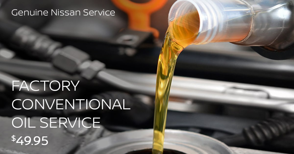 Nissan Factory Conventional Oil Service Service Special Coupon