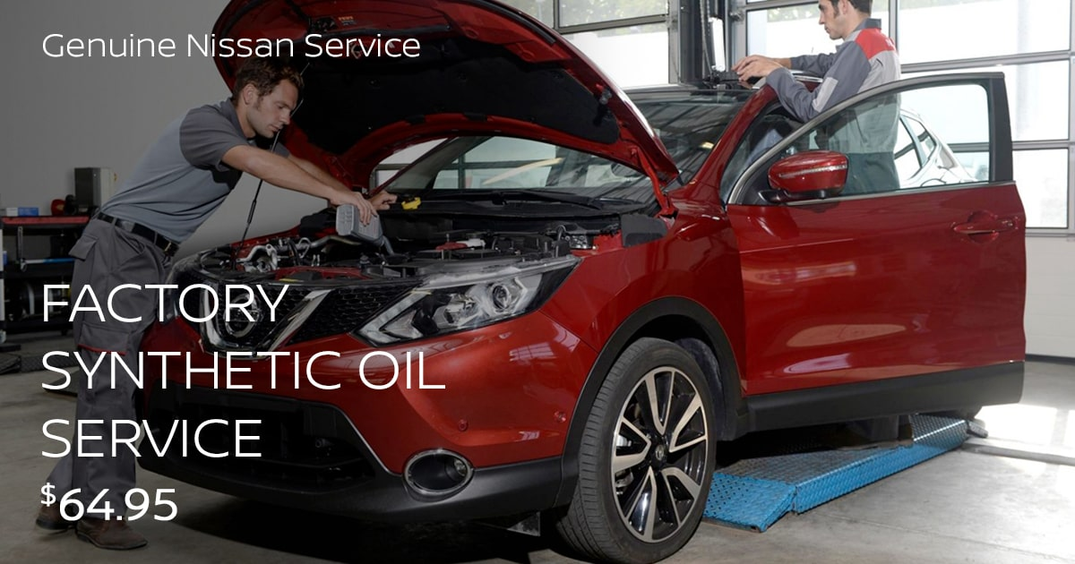 Nissan Factory Synthetic Oil Service Service Special Coupon